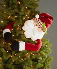 Santa Claus With Bendable Arms Christmas Tree Hugger Topper