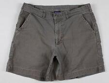 "Patagonia 7"" Stand Up Canvas Shorts MENS 34 Brown Gray Organic Cotton"
