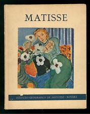 DIEHL GASTON MATISSE DE AGOSTINI 1949 MINIATURE HYPERION PITTURA IMPRESSIONISMO
