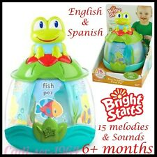 Bright Starts Play to Learn Pond Pal Frog Melodies & Sounds English & Spanish 6m