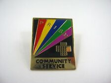 Vintage Collectible Pin: PRISM Community Service Rainbow Design