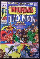 AMAZING ADVENTURES #6 Inhumans & Black Widow (1971) Marvel Comics Neal Adams VG+