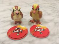 Pokemon TOMY CGTSJ PVC Figure Lot Pidgey Pidgeot Vtg Gen 1 Pog Disc 90s Nintendo