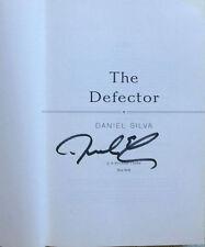 DANIEL SILVA DEFECTOR Flat Hand SIGNED 2009 FIRST ED 1st Pr HCDJ  Gabriel Allon