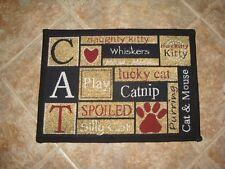 "NEW (CAT PET MAT/RUG) CAT LOVE DESIGN--13"" X 19"""
