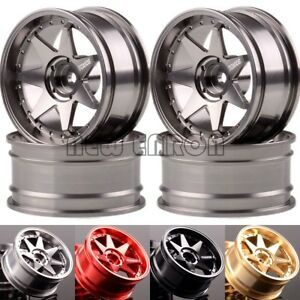 "4PCS Aluminum 7 Spoke Wheel Rim 1.9"" For RC CAR 1/10 On-Road Drift Rock Crawler"