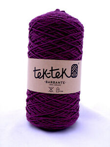 Crafting Cotton 6ply PURPLE  New Cotton Knit Crochet Weave 220m washable