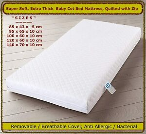 SUPER SOFT HIGH QUALITY BABY TODDLER COT BED CRIB MATTRESS - All Sizes Available