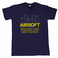 Airsoft Heroes, Paintball Funny Mens T-Shirt - Hobbies Gift Him Dad
