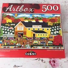 Artbox 500 Pc Puzzle Honey Farm Colorful Family Fun 18.25x11""