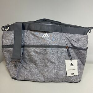 Adidas Studio III Duffel Bag Light Jersey Gray Rose Gold FreshPak Wide Top