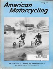 AMERICAN MOTORCYCLING MAGAZINE MARCH 1962 (VG-) BSA IN 1962