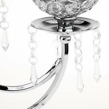 Silver Crystal Candle Holders Wedding Table Centerpieces 3 Arms Candelabra