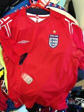 ENGLAND SHIRT 200/4/6 AWAY SHIRT BNWL AT £15 IN 34/36 OR 42/44 INCH  BRAND NEW