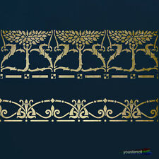 Border Stencil Set: Early 20th Century Design: For Art, Walls & Furniture: ST18