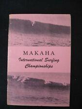 1955 Makaha International Surfing Championships Program Surfer Magazine Book