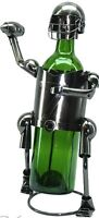 NEW! Football Player QB Silver Wine Bottle Holder Metal Birthday Gift zb610