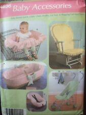 Simplicity Pattern 4636 Baby Accessories Fabric Covers Uncut/FF New Old Stock