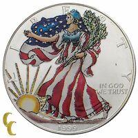 1999 Painted Walking Liberty Silver 1oz American Eagle w/ Box & CoA Uncirculated
