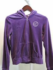ENERGIE Cotton Blend Purple W/ Peace Sign Hoodie Sweater - Size - Large