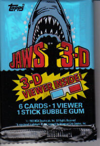 Jaws 3-D  , trading cards  pack
