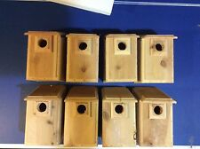 8 CEDAR Bluebird Bird Houses Easy to Open and Clean