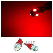 2X RED T10 Wedge 5-SMD 5050 LED Light Bulbs HID W5W 192 168 194