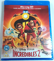 INCREDIBLES 2 Brand New 3D (and 2D) BLU-RAY Movie 2018 Disney Pixar Film Bao