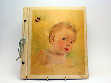 Vintage scrapbook featuring a baby on cover from Florence Kroger Litho USA