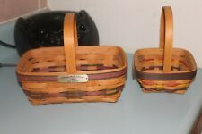 * Longaberger * 2 Nice Baskets Used for Display Only
