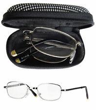 Caripe Lesebrille klappbar Brille Lesehilfe Metall faltbar Herren Etui -M118