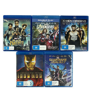 5x MARVEL DVDs Guardians of the Galaxy Iron Man Black panther Avengers Wolverine