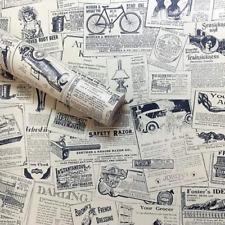 Wallpaper Vintage Newspaper Self-Adhesive Peel & Stick Wall Removable Decoration