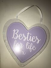 Besties For Life Hanging Heart Decoration