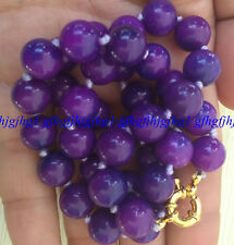 Charming 10mm Natural Purple Sugilite Round Gemstone Bead Necklace18 ''AAA