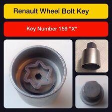 """Genuine Renault Sperrende Radmutter / Schlüssel 159 """"X"""""""