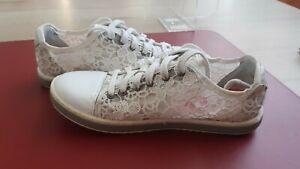 Sneakers Donna DESIGUAL in Pizzo Bianco Misura 36, come nuove, spedizione gratis