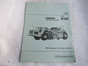 1967 Wabco Le Tourneau Tournapull BT333F elevating scraper  brochure