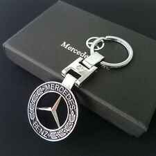 Stainless Steel Metal Car Key Chain Keyring for Mercedes Benz Hollow Key Chain