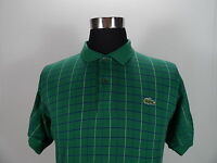 Mens Lacoste Polo Shirt, Size 6 ,  L Large, Green, Cotton, Short Sleeve #BL629
