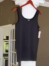 PHILOSOPHY Black Tank Top Nylon/Spandex  Size L NWT $28