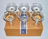 SPIEGELAU~ Set (6) Crystal CHAMPAGNE-TALL SHERBET GLASSES w/Box (8 Oz.)~ Germany