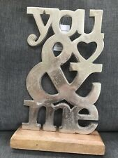 You and Me Mounted Sign Home Decor