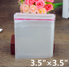 100X 3.5×3.5 Small Clear Self Seal Transparent Plastic Cellophane Poly OPP Bags