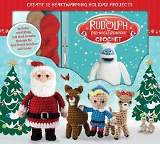 Rudolph Red Nose Reindeer Crochet Kit New Sealed Box Patterns for 12 characters