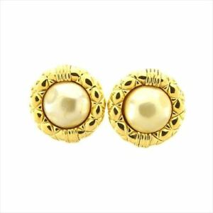 Chanel Earrings Gold GP Woman Authentic Used C3329
