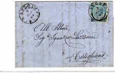 1865 c. 20/15 DLR su lettera annullo Borgo a Buggiano (Pistoia)