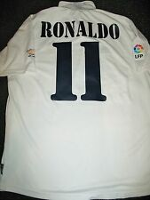 Authentic Ronaldo Real Madrid DEBUT  2002 - 2003 Jersey Shirt Camiseta L