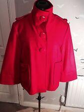 "Chic RED HERRING Designers at Debenhams 60% wool mix coat, 14, 42, 26"" L, vgc"