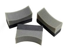 3 x Martin Cox Professional Tyre Tire Dressing Applicator Curved Foam Sponge Pad